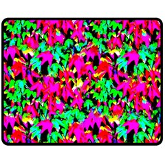 Colorful Leaves Double Sided Fleece Blanket (medium)