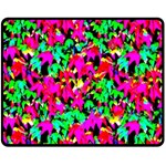 Colorful Leaves Double Sided Fleece Blanket (Medium)  58.8 x47.4 Blanket Back
