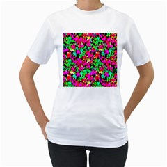 Colorful Leaves Women s T Shirt (white)  by Costasonlineshop