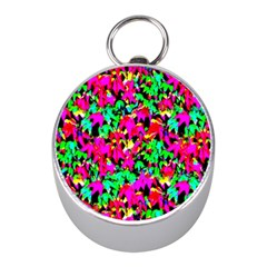 Colorful Leaves Mini Silver Compasses by Costasonlineshop