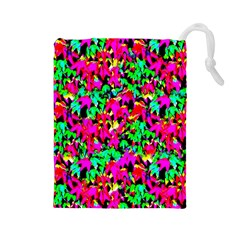 Colorful Leaves Drawstring Pouches (large)  by Costasonlineshop