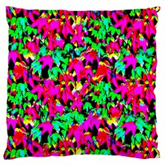 Colorful Leaves Large Flano Cushion Cases (two Sides)  by Costasonlineshop