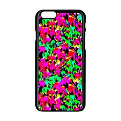 Colorful Leaves Apple Iphone 6/6s Black Enamel Case