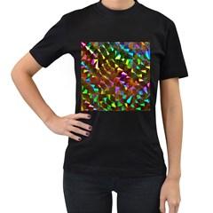 Cool Glitter Pattern Women s T Shirt (black) (two Sided) by Costasonlineshop