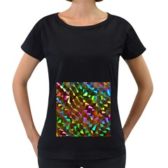 Cool Glitter Pattern Women s Loose Fit T Shirt (black)