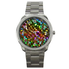 Cool Glitter Pattern Sport Metal Watches by Costasonlineshop