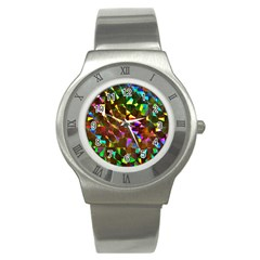 Cool Glitter Pattern Stainless Steel Watches