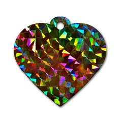 Cool Glitter Pattern Dog Tag Heart (one Side) by Costasonlineshop