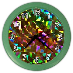 Cool Glitter Pattern Color Wall Clocks