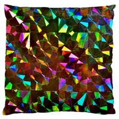 Cool Glitter Pattern Large Flano Cushion Cases (two Sides)