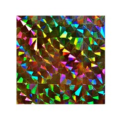 Cool Glitter Pattern Small Satin Scarf (square)