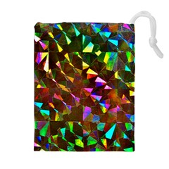 Cool Glitter Pattern Drawstring Pouches (extra Large)