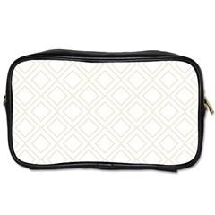 Elegant Beige Modern Pattern Design Toiletries Bags 2 Side by FowlDesigns