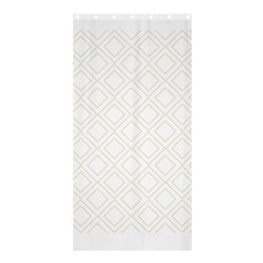 Elegant Beige Modern Pattern Design Shower Curtain 36  X 72  (stall)  by FowlDesigns