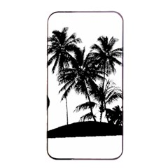Tropical Scene Island Sunset Illustration Apple Iphone 4/4s Seamless Case (black) by dflcprints