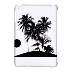 Tropical Scene Island Sunset Illustration Apple Ipad Mini Hardshell Case (compatible With Smart Cover) by dflcprints