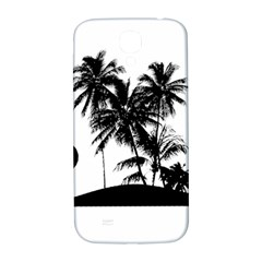 Tropical Scene Island Sunset Illustration Samsung Galaxy S4 I9500/i9505  Hardshell Back Case