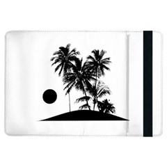 Tropical Scene Island Sunset Illustration Ipad Air Flip by dflcprints