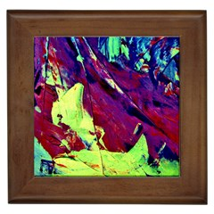 Abstract Painting Blue,yellow,red,green Framed Tiles