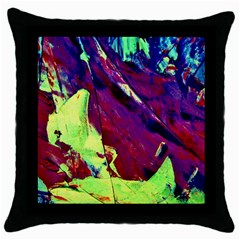 Abstract Painting Blue,yellow,red,green Throw Pillow Cases (black)
