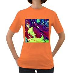 Abstract Painting Blue,yellow,red,green Women s Dark T Shirt by Costasonlineshop