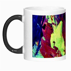 Abstract Painting Blue,yellow,red,green Morph Mugs by Costasonlineshop