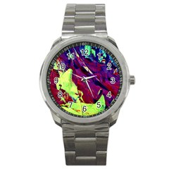 Abstract Painting Blue,yellow,red,green Sport Metal Watches by Costasonlineshop