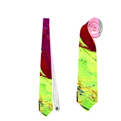 Abstract Painting Blue,yellow,red,green Neckties (one Side)