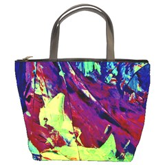Abstract Painting Blue,yellow,red,green Bucket Bags