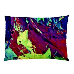 Abstract Painting Blue,yellow,red,green Pillow Cases