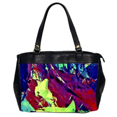 Abstract Painting Blue,yellow,red,green Office Handbags (2 Sides)