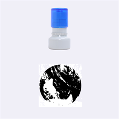 Abstract Painting Blue,yellow,red,green Rubber Round Stamps (small) by Costasonlineshop