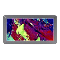 Abstract Painting Blue,Yellow,Red,Green Memory Card Reader (Mini) by Costasonlineshop