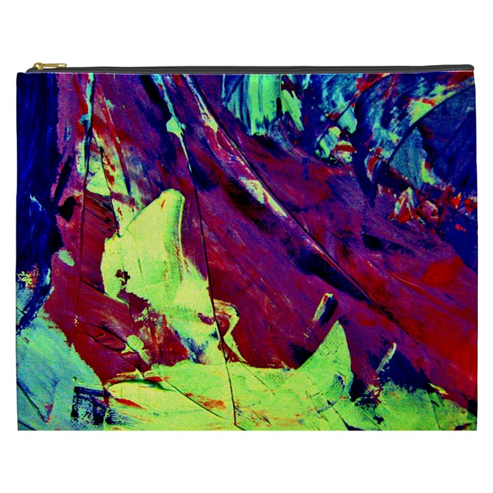 Abstract Painting Blue,Yellow,Red,Green Cosmetic Bag (XXXL)