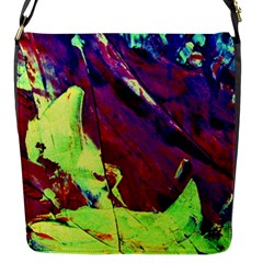 Abstract Painting Blue,Yellow,Red,Green Flap Messenger Bag (S) by Costasonlineshop