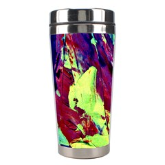 Abstract Painting Blue,yellow,red,green Stainless Steel Travel Tumblers by Costasonlineshop