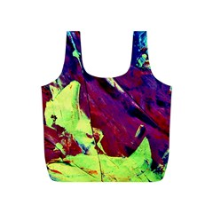 Abstract Painting Blue,yellow,red,green Full Print Recycle Bags (s)  by Costasonlineshop