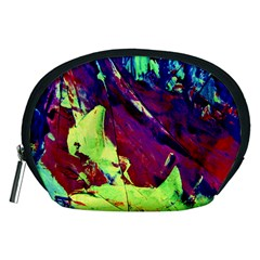 Abstract Painting Blue,yellow,red,green Accessory Pouches (medium)