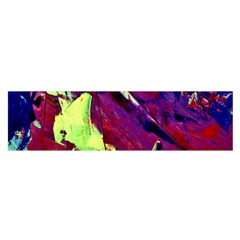 Abstract Painting Blue,yellow,red,green Satin Scarf (oblong)