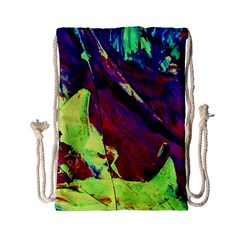 Abstract Painting Blue,yellow,red,green Drawstring Bag (small) by Costasonlineshop