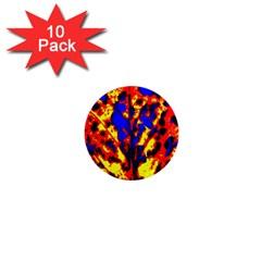 Fire Tree Pop Art 1  Mini Magnet (10 Pack)  by Costasonlineshop