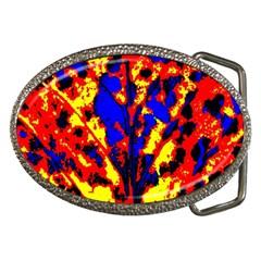 Fire Tree Pop Art Belt Buckles