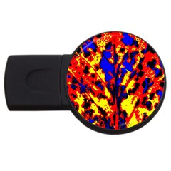 Fire Tree Pop Art Usb Flash Drive Round (2 Gb)  by Costasonlineshop