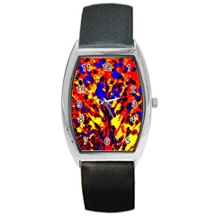 Fire Tree Pop Art Barrel Metal Watches by Costasonlineshop