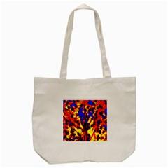 Fire Tree Pop Art Tote Bag (cream)  by Costasonlineshop