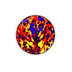 Fire Tree Pop Art Hat Clip Ball Marker (4 Pack)