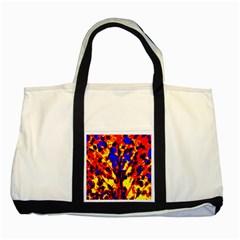 Fire Tree Pop Art Two Tone Tote Bag  by Costasonlineshop