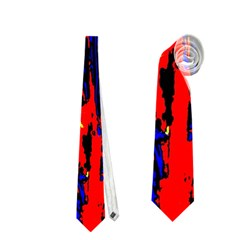 Fire Tree Pop Art Neckties (two Side)  by Costasonlineshop