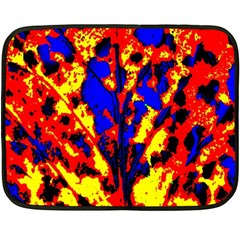 Fire Tree Pop Art Double Sided Fleece Blanket (mini)  by Costasonlineshop