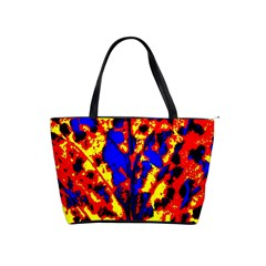 Fire Tree Pop Art Shoulder Handbags by Costasonlineshop